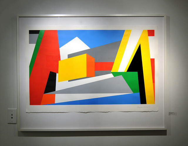 Untitled Geometric Abstract Art Painting by Bryce Hudson
