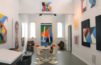 The art studio of contemporary artist Bryce Hudson