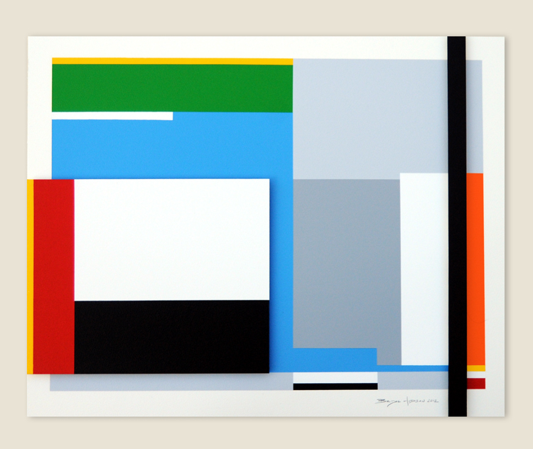Geometric Abstraction Hard Edge 21 By Artist Bryce Hudson