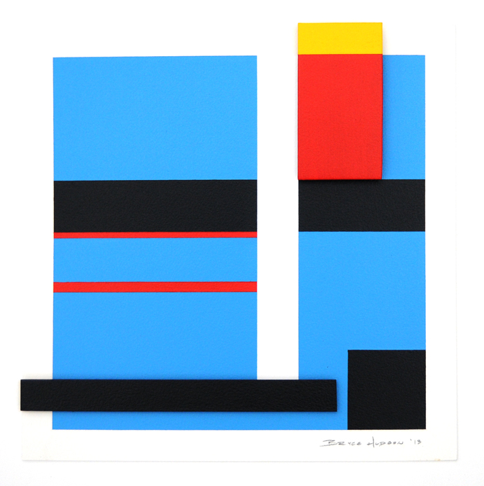 geometric abstraction hard edge  25 by artist bryce hudson