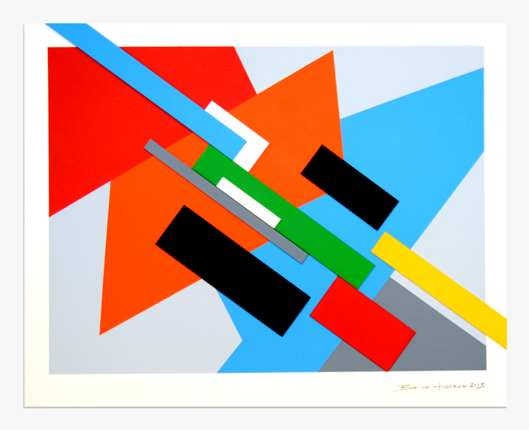 Geometric Abstraction Hard Edge 27 By Artist Bryce Hudson