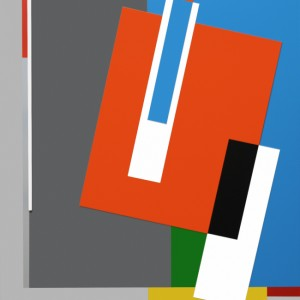 Hard Edge, Abstract Geometric Painting, Art by Bryce Hudson - Composition #34 - Multimedia on Canvas - 2013