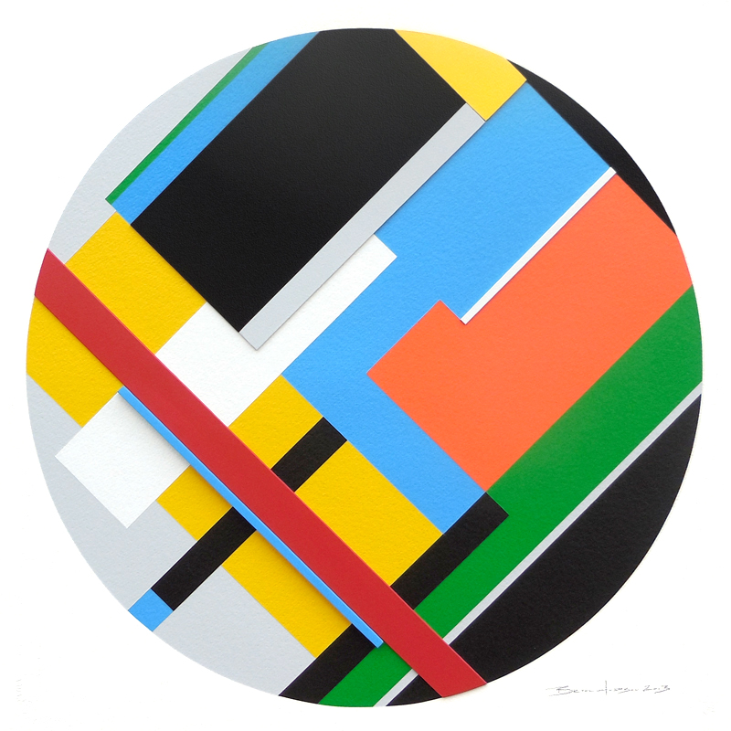 geometric abstraction hard edge  36 by artist bryce hudson