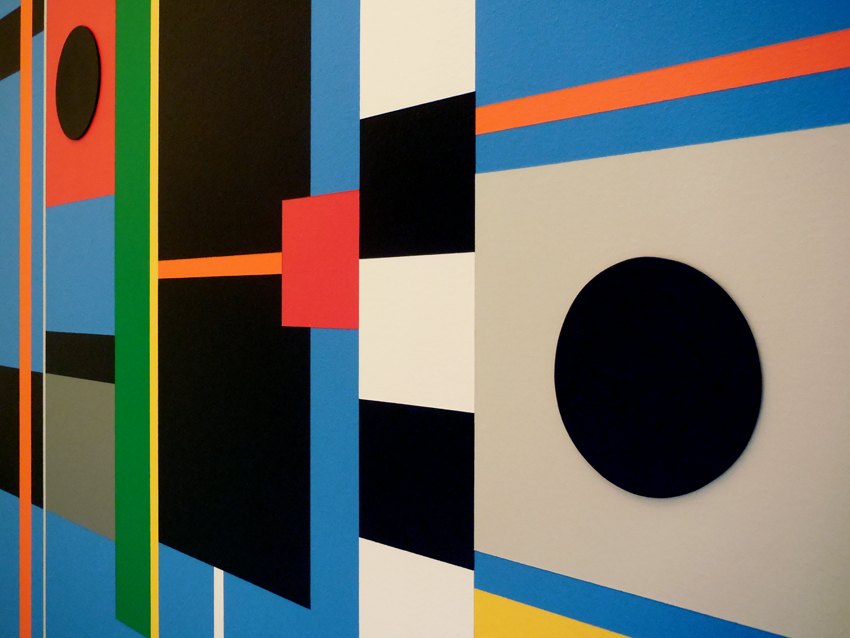 Geometric Abstraction and Hard Edge Art #43 by artist Bryce Hudson ...