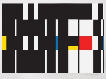 Geometric Abstraction - Composition #44 - Painting by Bryce Hudson