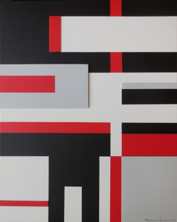 An abstract geometric painting by Bryce Hudson